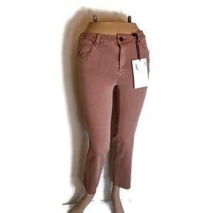 Pink Crop Jeans By Cotton On NWT